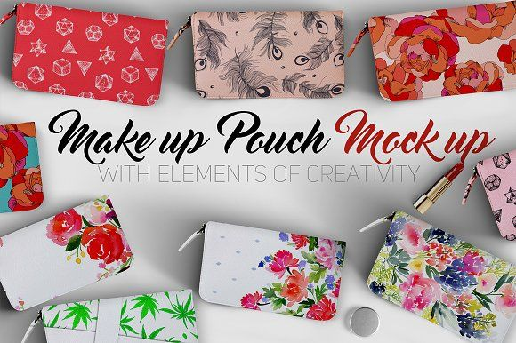 Download Makeup Pouch Mockup By Aleksandra Slowik On Creativemarket Makeup Pouch Bag Mockup Psd Template Free