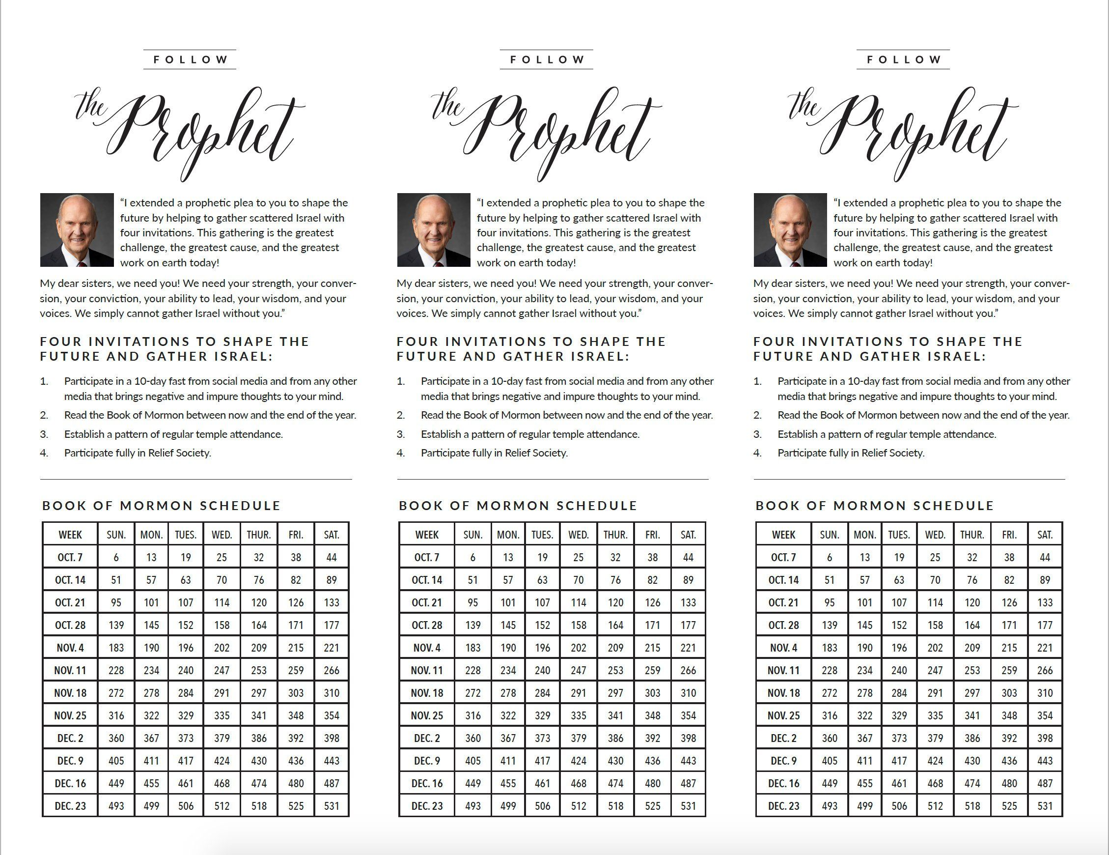 This is an image of Invaluable President Nelson Challenge Printable
