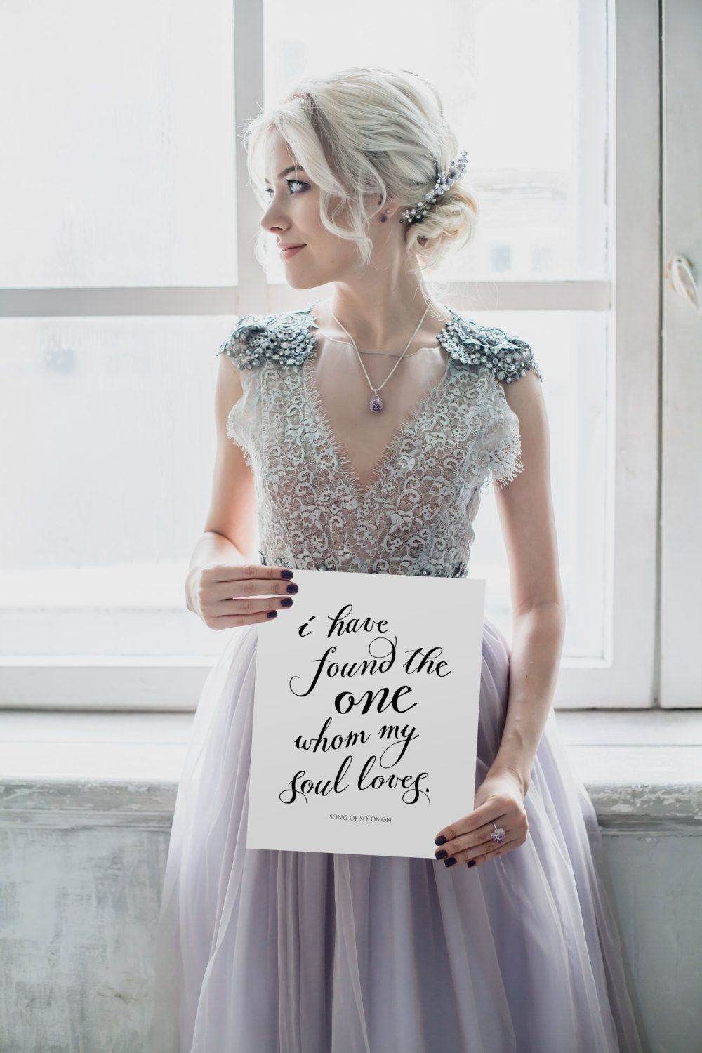"Wedding Quote, ""I have found the one whom my soul loves"