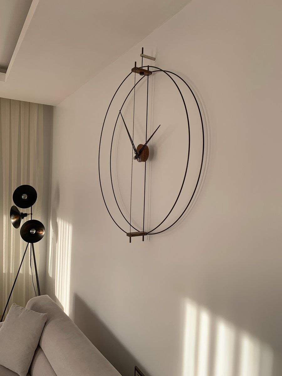 Our contemporary wall clocks are uniquely handmade manufactured exclusively for you. Diameter 35.43'' The circles are made from durable fiberglass. High-torque, no-second-hand design, and quiet Quartz mechanism. Please email for wholesale purchases. I welcome your questions and happy to assist you. If you'd like to dis