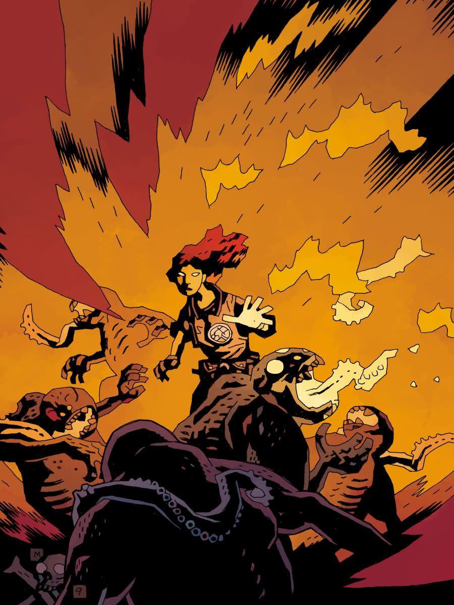 Collectibles Dark Horse Comics Hellboy Nazis Original Art Bprd Abe Sapien Liz Sherman Mignola Other Original Comic Art