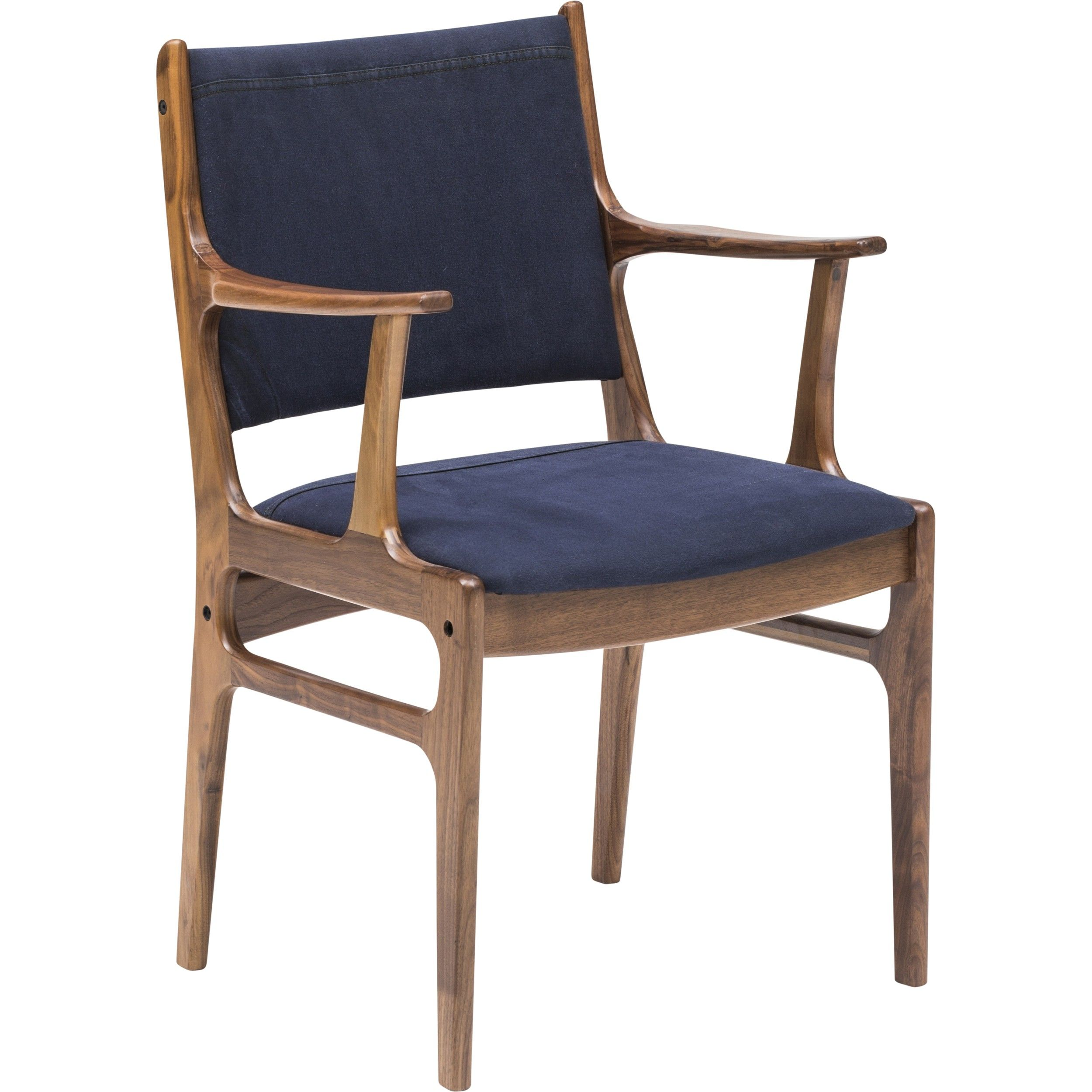 Dining Arm Chairs Black bina arm chair, dark blue canvas | dark blue, canvases and chair bench