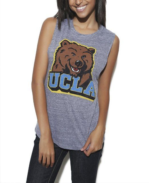d78a3d5215b Amazon.com  Wet Seal Women s Ucla Bear Triblend Tank  Clothing ...