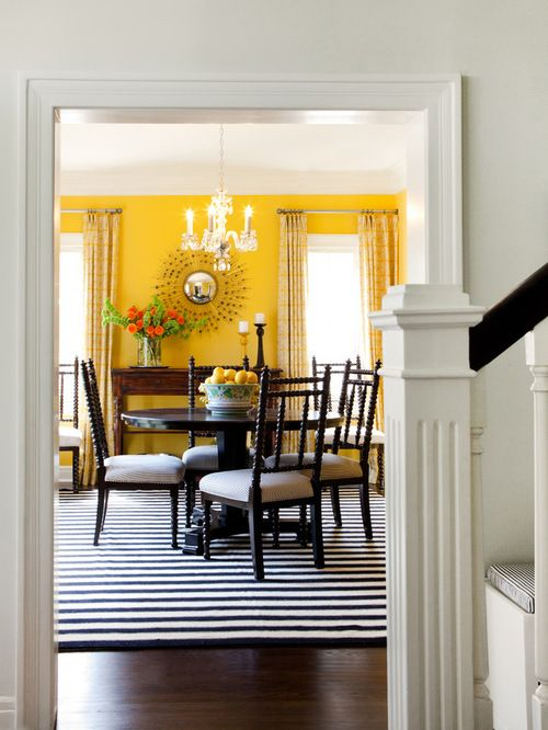 Farrow Balls India Yellow Looks Incredibly Stylish When Mixed With Black And White Accents