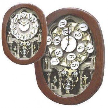 Rhythm Grand Encore Legend Musical Motion Wall Clock 4mh834wb06 Rhythm Clocks Clock Wall Clock
