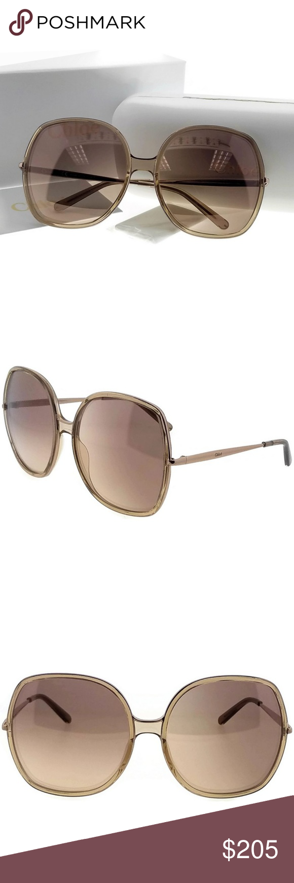78cdae7f1af2 Chloe CE725S-290-62 Sunglasses New gorgeous authentic Chloe CE725S-290-62