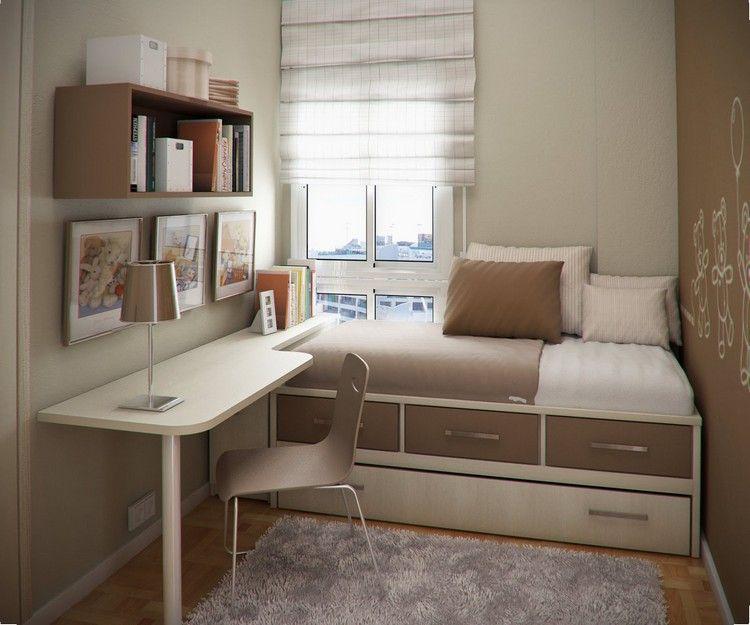 Kleines Kinderzimmer Raumgestaltung Bett Bettkasten Schreibtisch