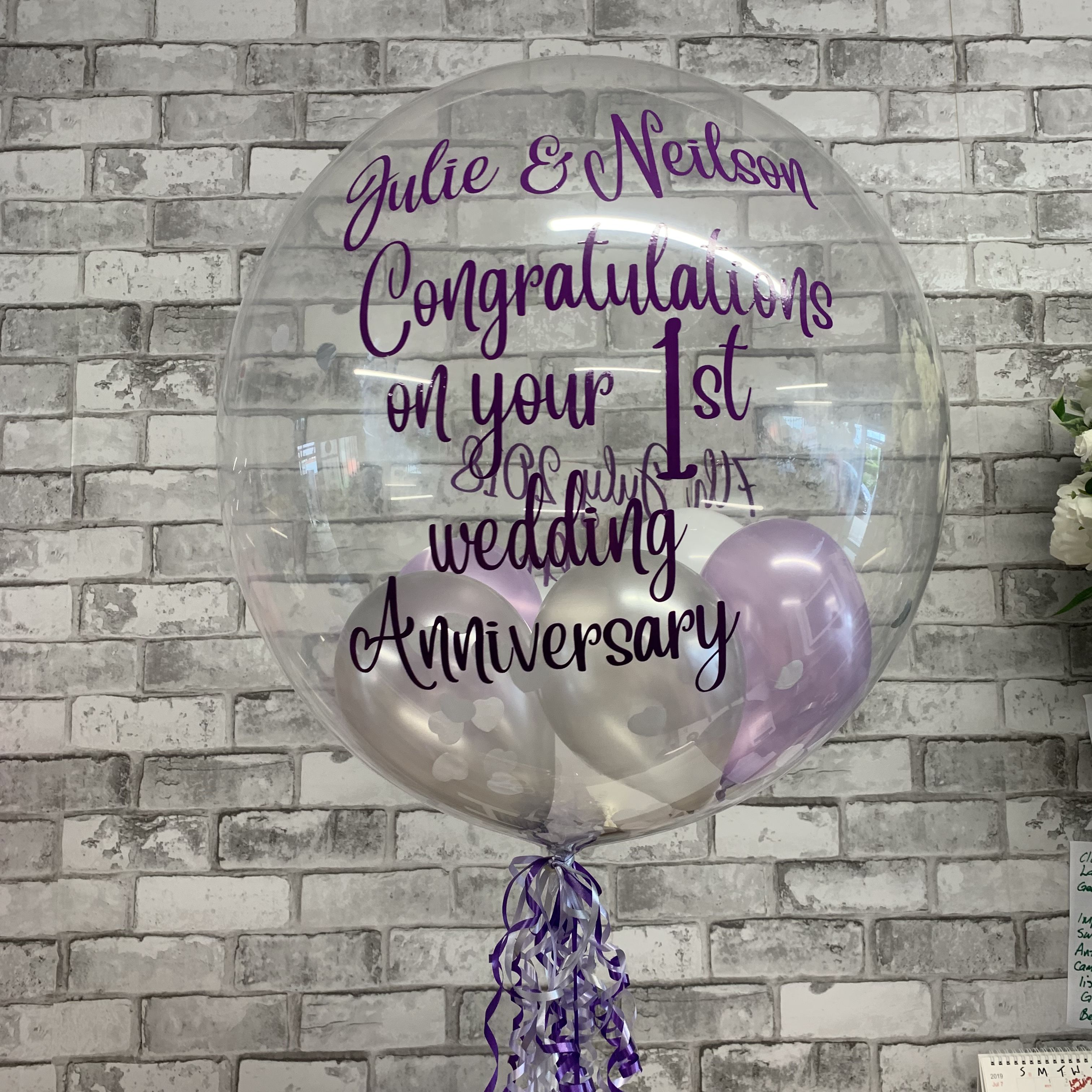 Pin by The Gravesend Florist on Balloons 1st wedding