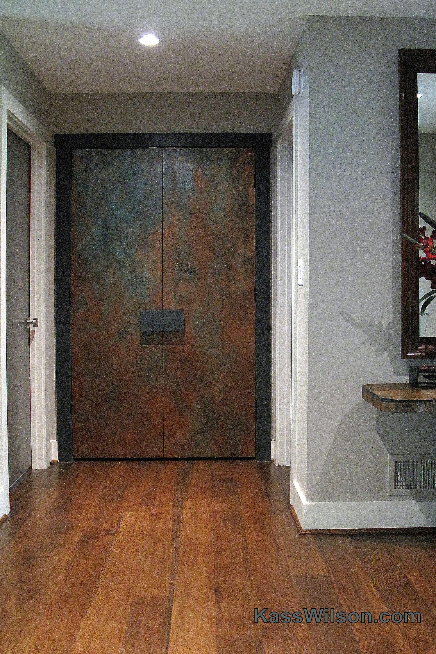 Walk This Way…Faux Antique Copper Doors