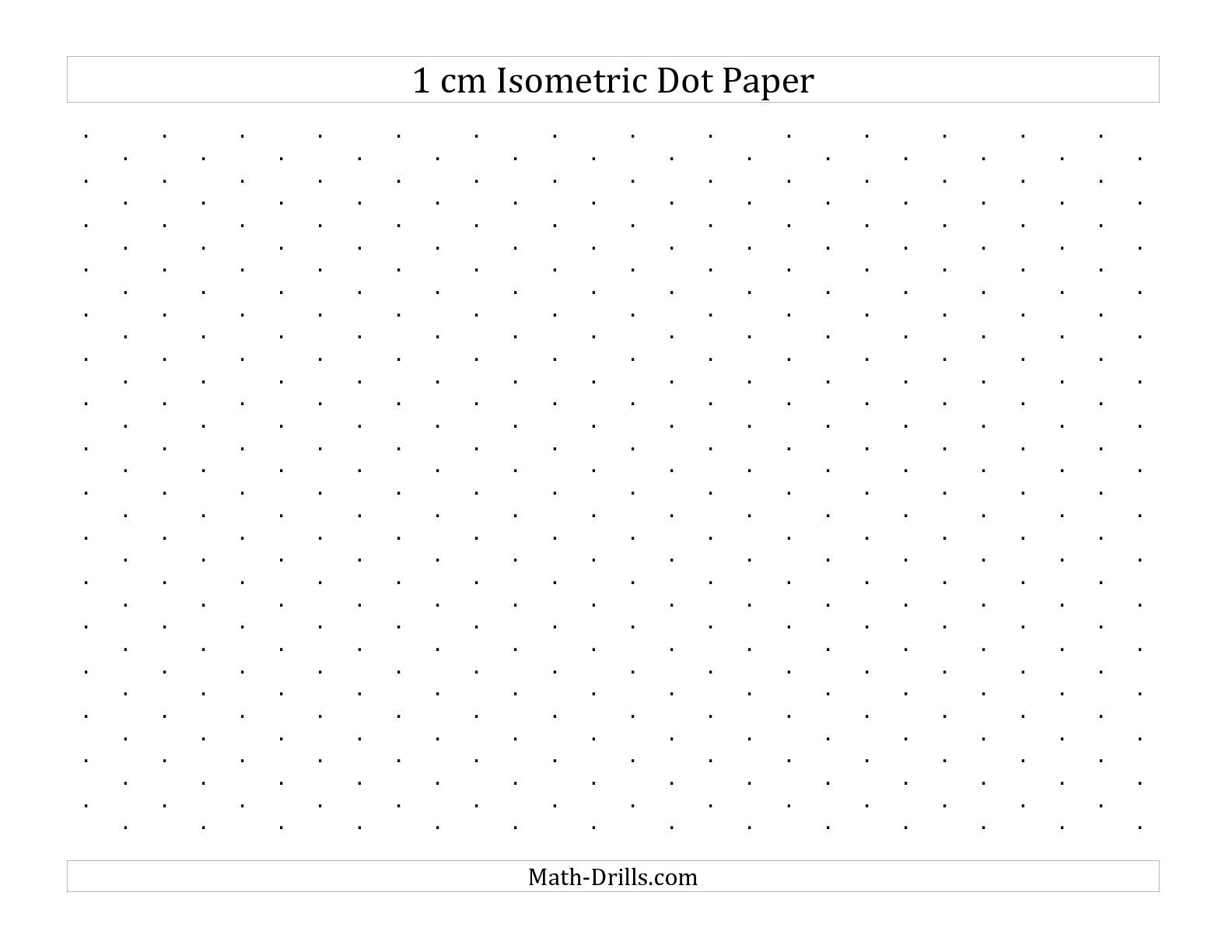 The 1 Cm Isometric Dot Paper Landscape A Math Worksheet From The Graph Paper Page At Math