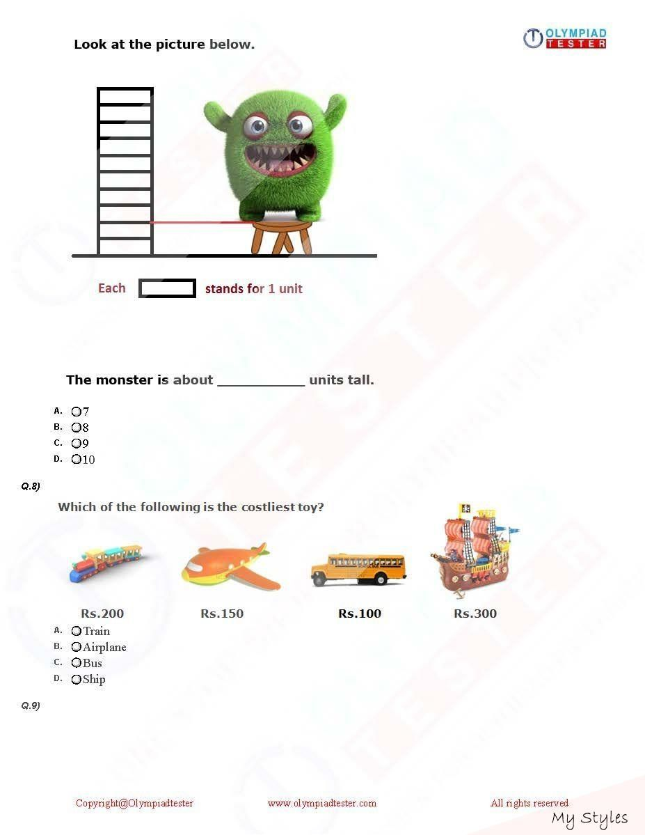 Oct 15 2019 Download Class 1 Maths Olympiad Pdf Worksheets To