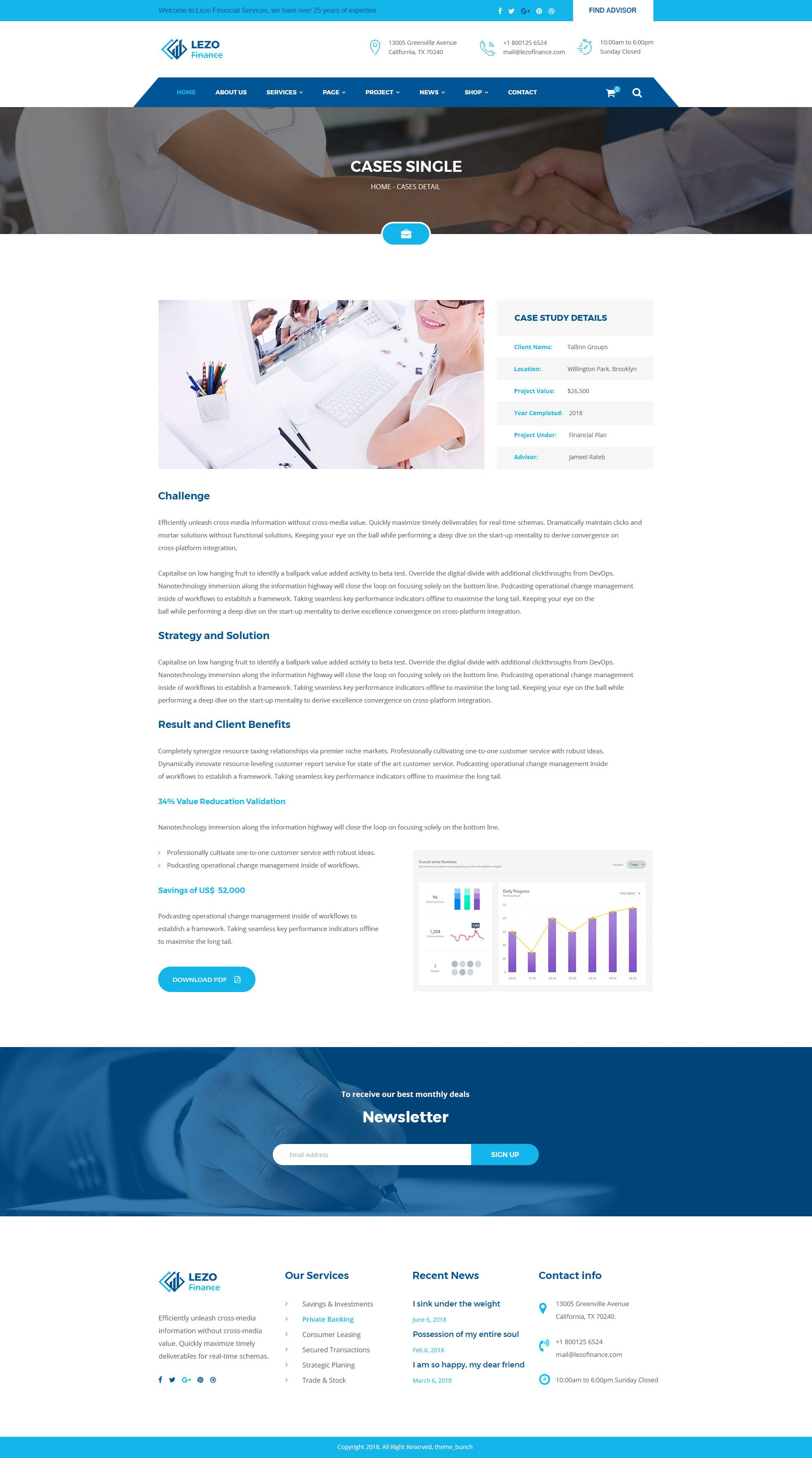 Lezo Business Finance Consulting Psd Template Business Finance Psd Templates Finance