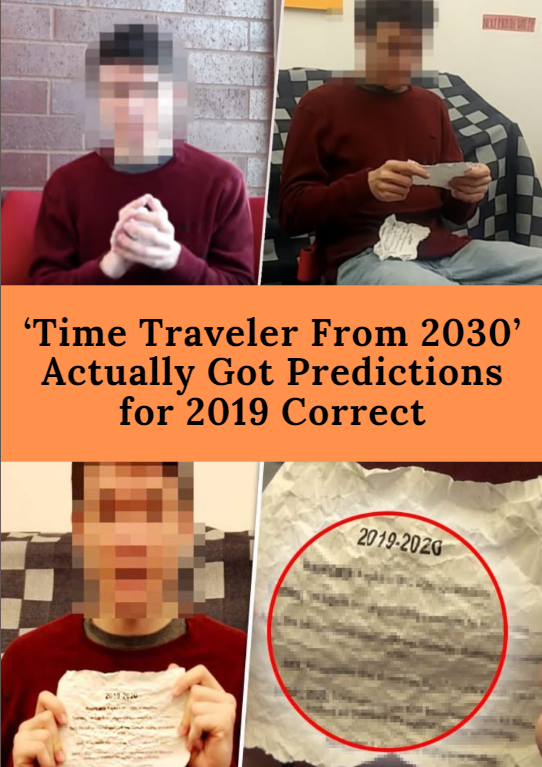 Time Traveler From 2030 Actually Got Predictions For 2019 Correct Time Travel 22 Words Fun Facts