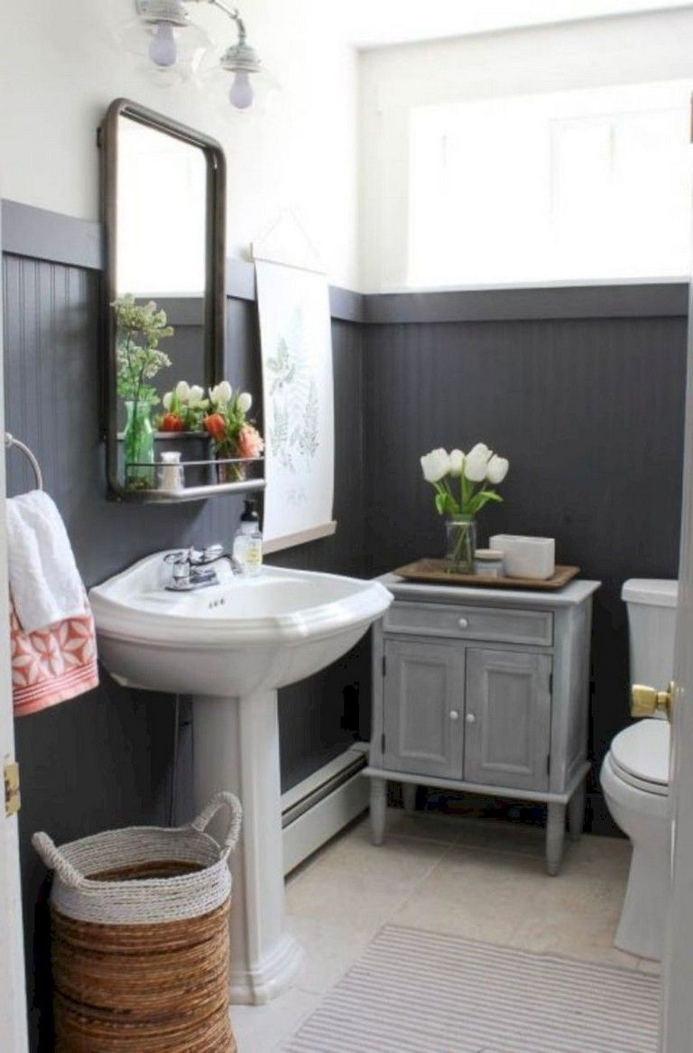 40 Comfy Farmhouse Bathroom Makeover Ideas Beadboard Bathroom Traditional Bathroom Wainscoting Bathroom