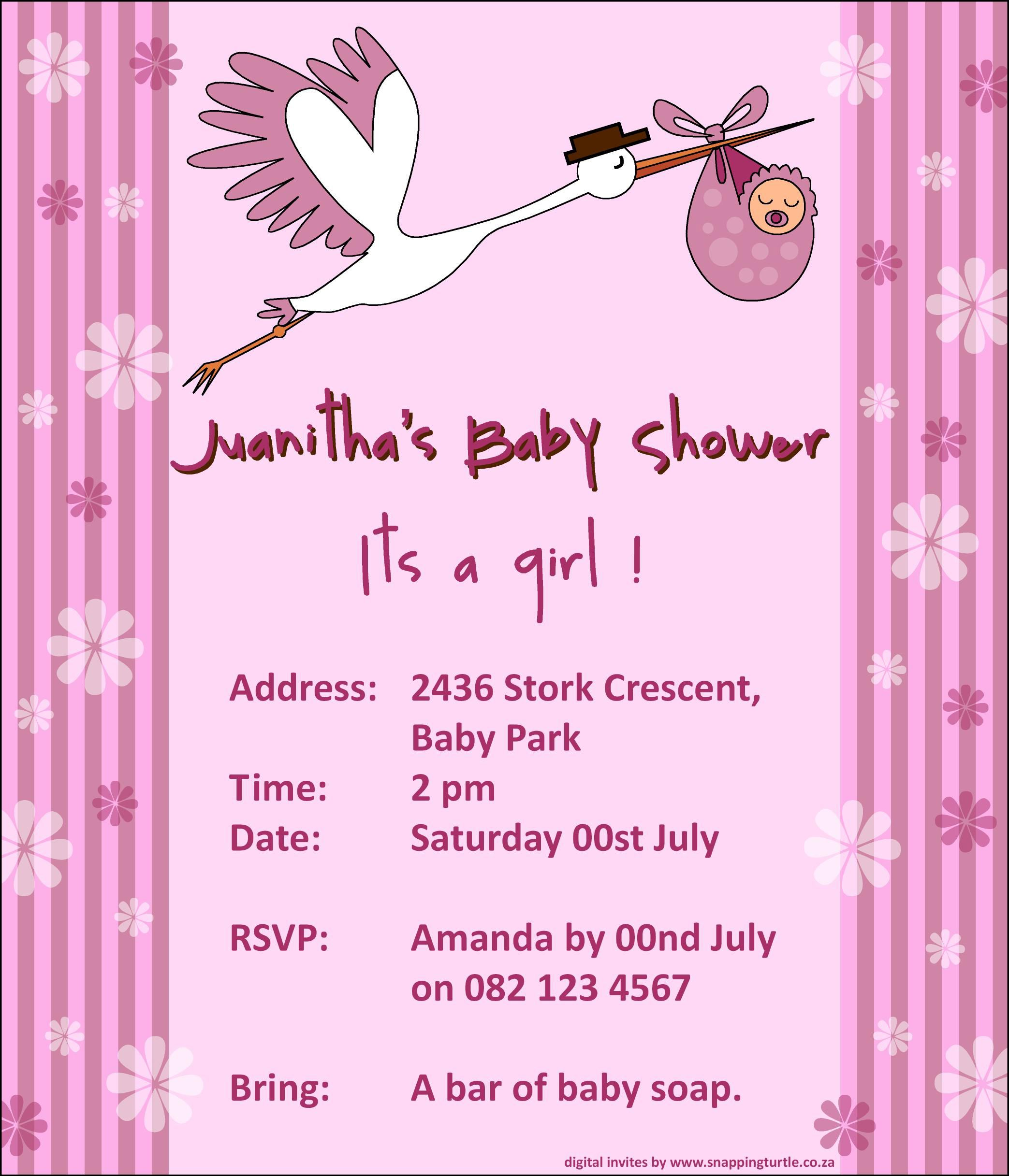 invitations stork baby showers shower images invitation templates