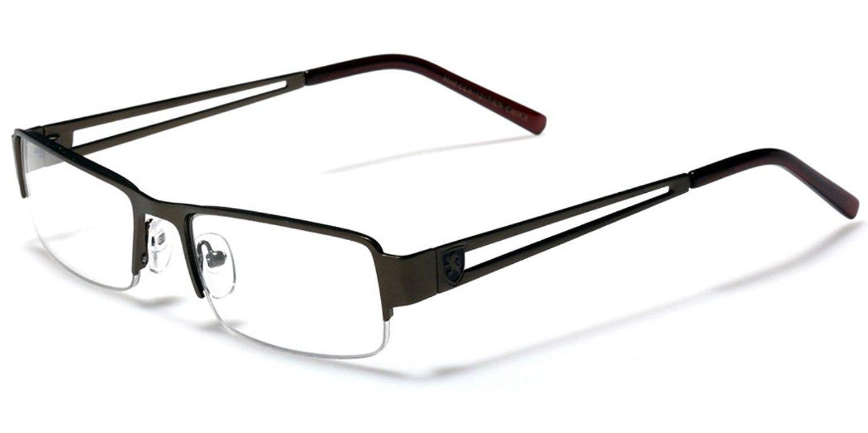 3bd52b7edb Small Rectangular Frame Clear Lens Designer Sunglasses RX Optical Eye  Glasses - Bronze - CA11P3R6HEF - Women s Sunglasses