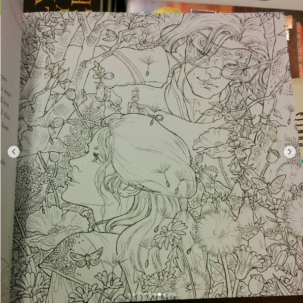ACOTAR coloring book Court of
