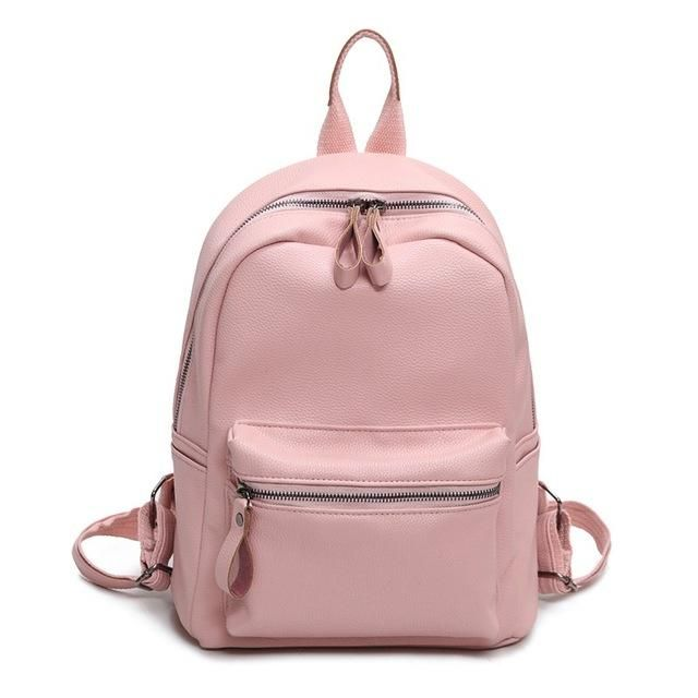 fdb94b3926 LEFTSIDE Women Backpack Casual PU Leather Ladies Feminine Backpacks For Teenage  Girls School Bag Bagpack Black Schoolbag