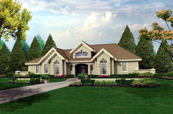 House Plan 95804 | Florida   Ranch   Southwest    Plan with 1948 Sq. Ft., 3 Bedrooms, 3 Bathrooms, 2 Car Garage