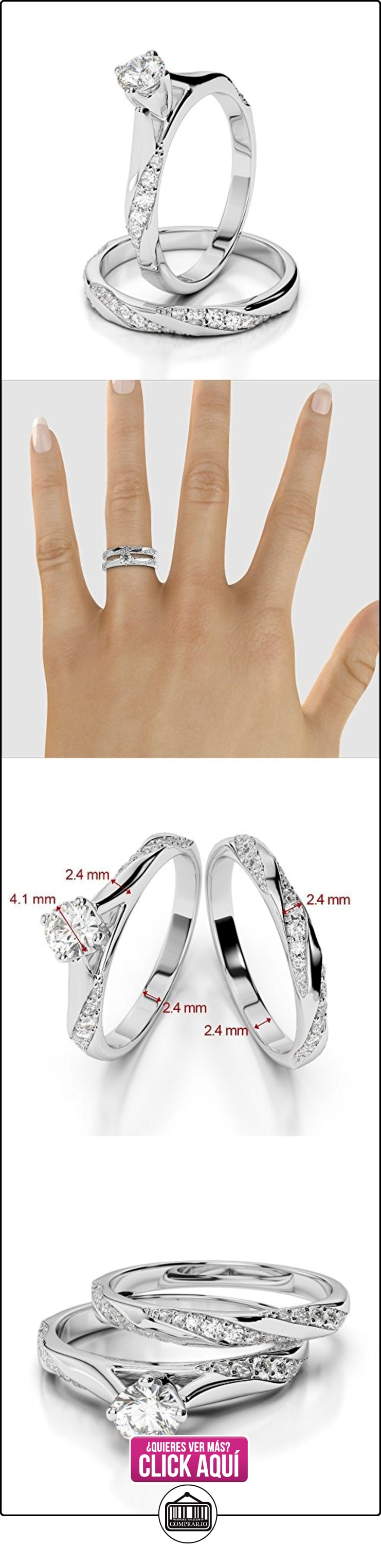 AG & Sons Hombre  750 Gold  oro blanco Round Brilliant Cut   G-H diamante  ✿ Joyas para hombres especiales - lujo ✿ ▬► Ver oferta: http://comprar.io/goto/B01I5F34JA