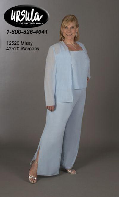 Formal Wear Pant Suits for Women | Ursula Plus Size Formal 3pc ...