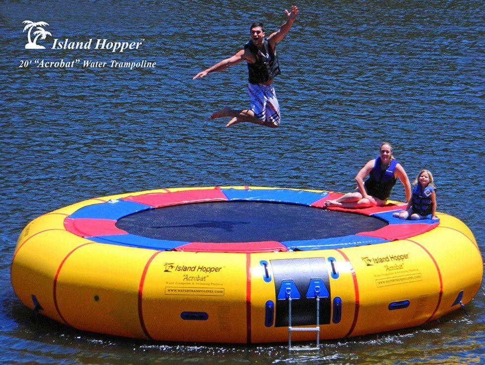 Island Hopper 20' Acrobat Water Trampoline 20'PVCTUBE