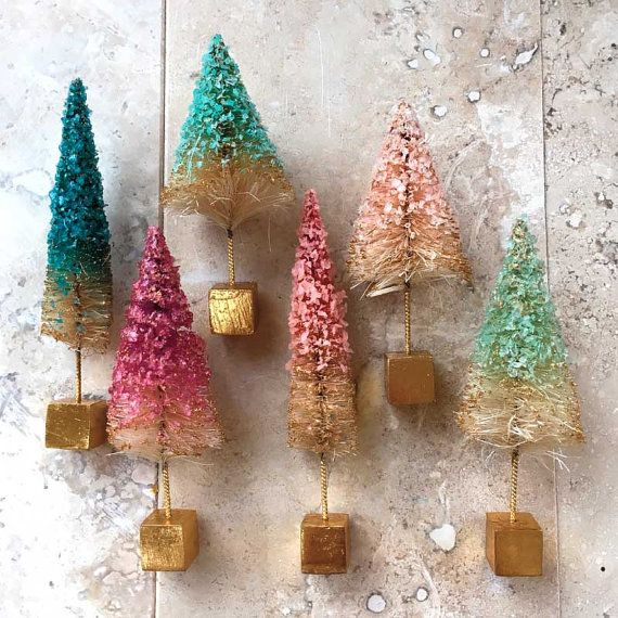 Your Place To Buy And Sell All Things Handmade Christmas Decorations Bottle Brush Trees Holiday Arrangement