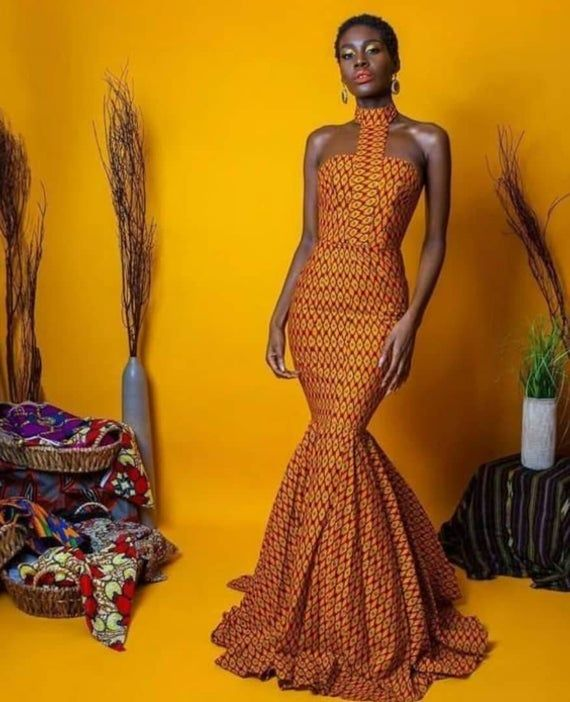 African print mermaid gown,special occasion womens dresses,African maxi dress,African clothing for women,custom made dress,women's wear #afrikanischemode