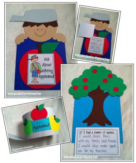 Johnny Appleseed Craft Kindergarten Ideas Apple Seeds Johnny