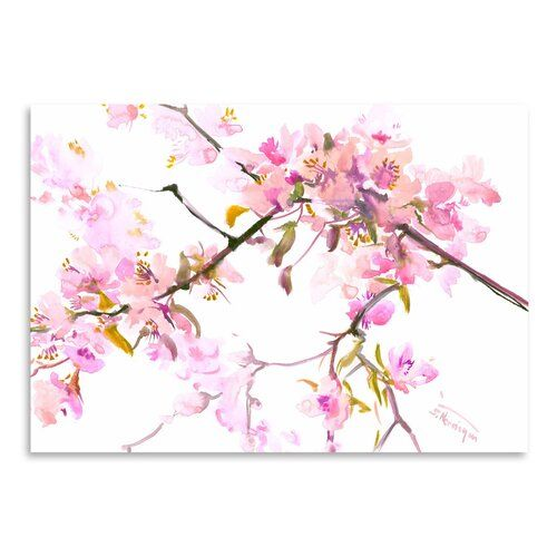 Cherry Blossom 2 by Suren Nersisyan - Unframed Painting Print on Paper East Urban Home Size: 30 cm H x 41 cm W
