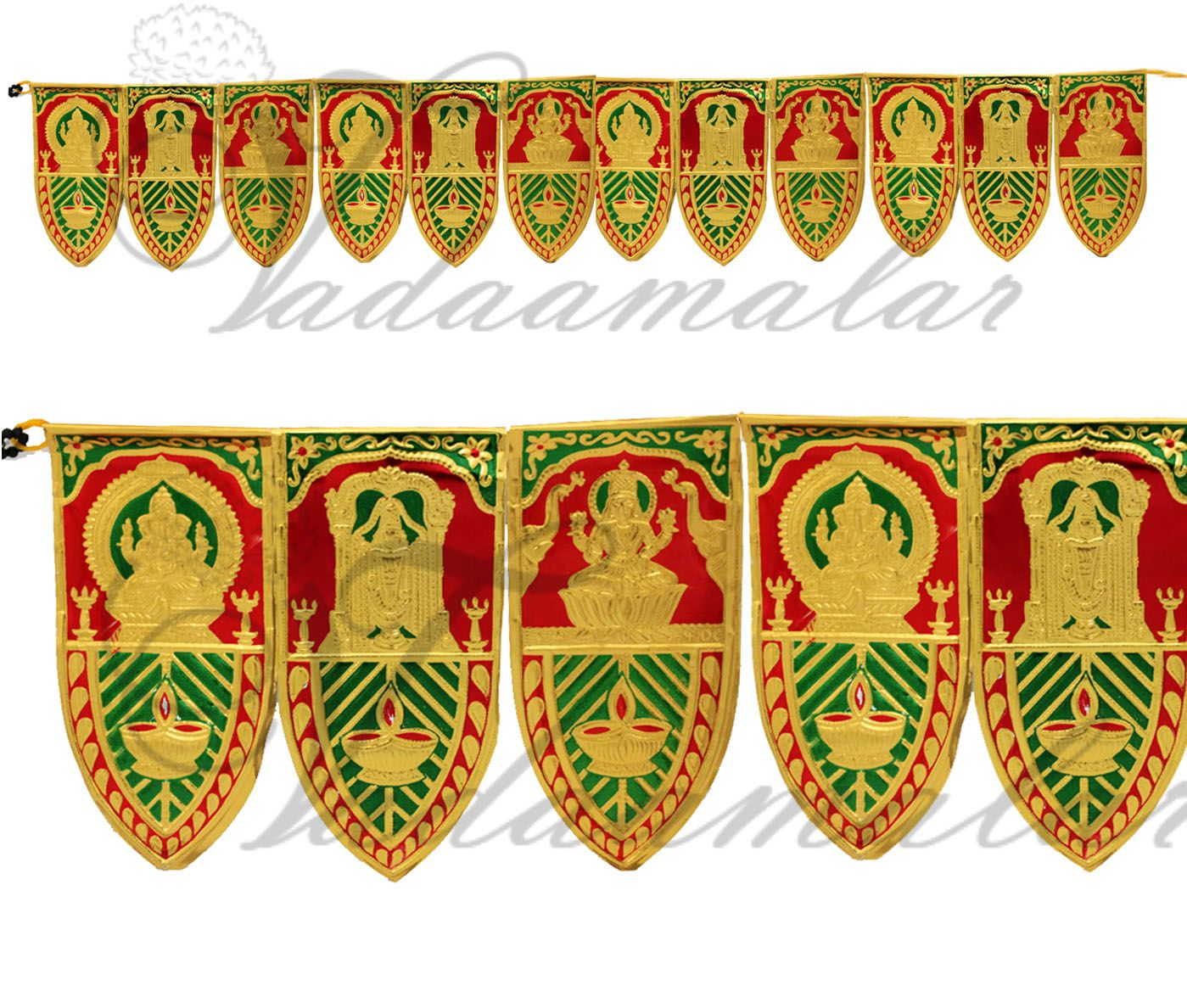 5 meters Mango Leaf Design Deities India Toran Tapestry Doorway ... for Indian Hanging Decorations  104xkb