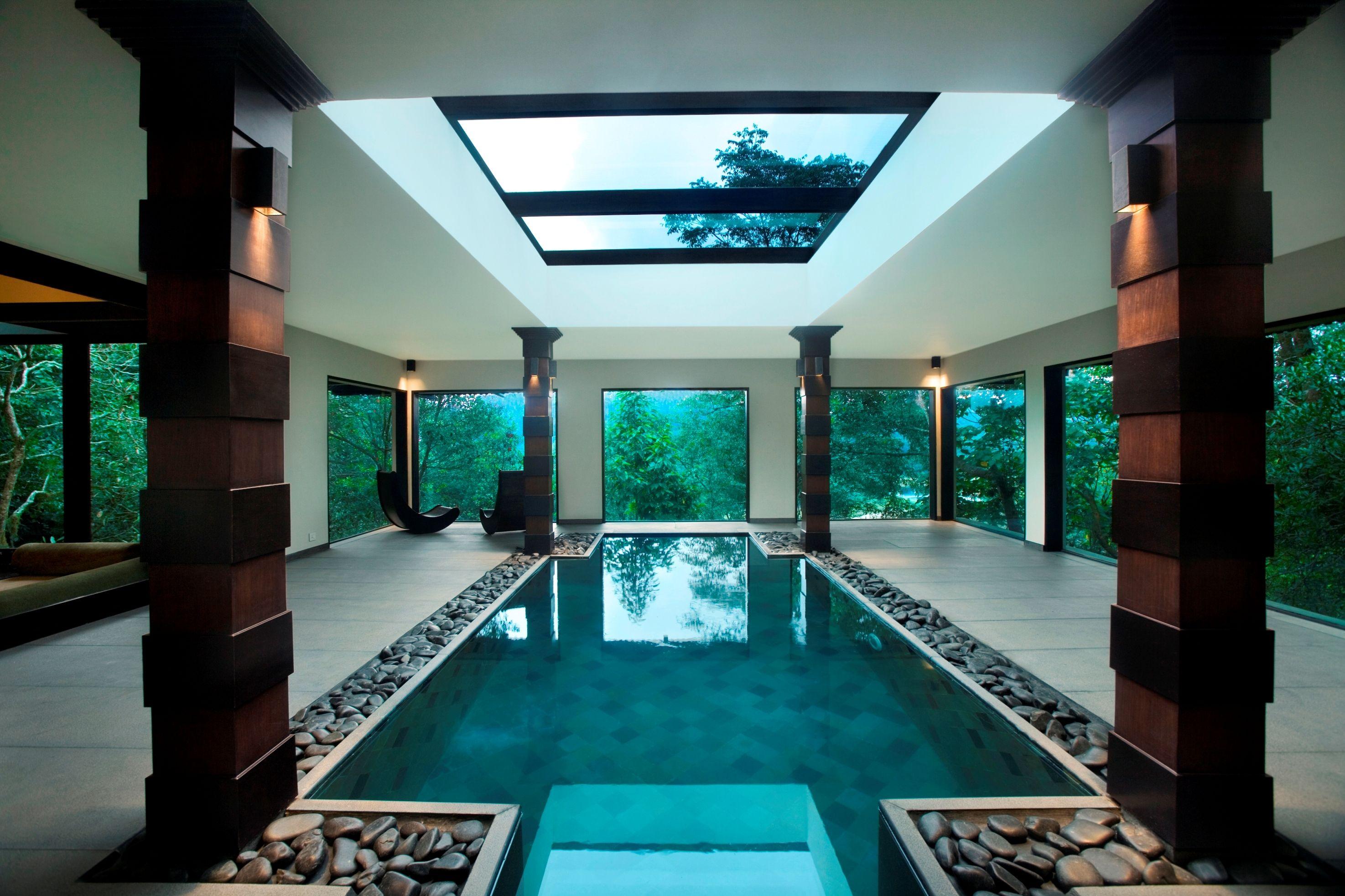Indoor Pool At Vivanta By Taj Madikeri Coorg South India Luxury Swimming Pools Indoor Swimming Pool Design Indoor Pool Design