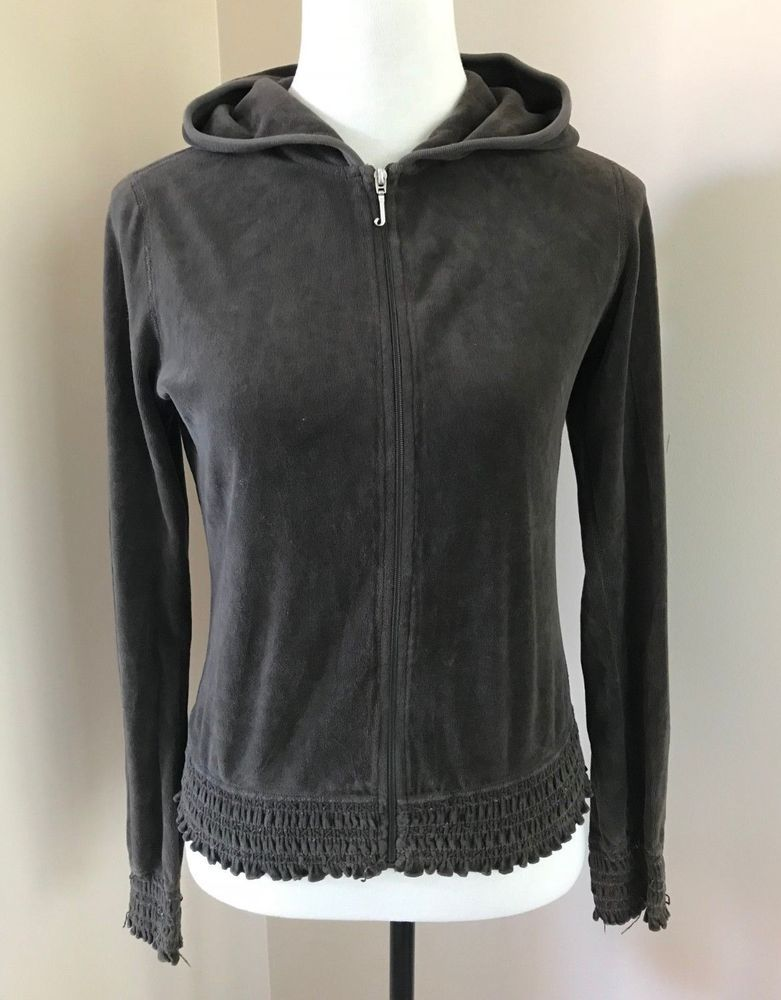 97e759c85e1a Juicy Couture Zip Up Velour Hoodie Jacket in Chocolate Brown Youth Girls  Size L  fashion  clothing  shoes  accessories  kidsclothingshoesaccs ...