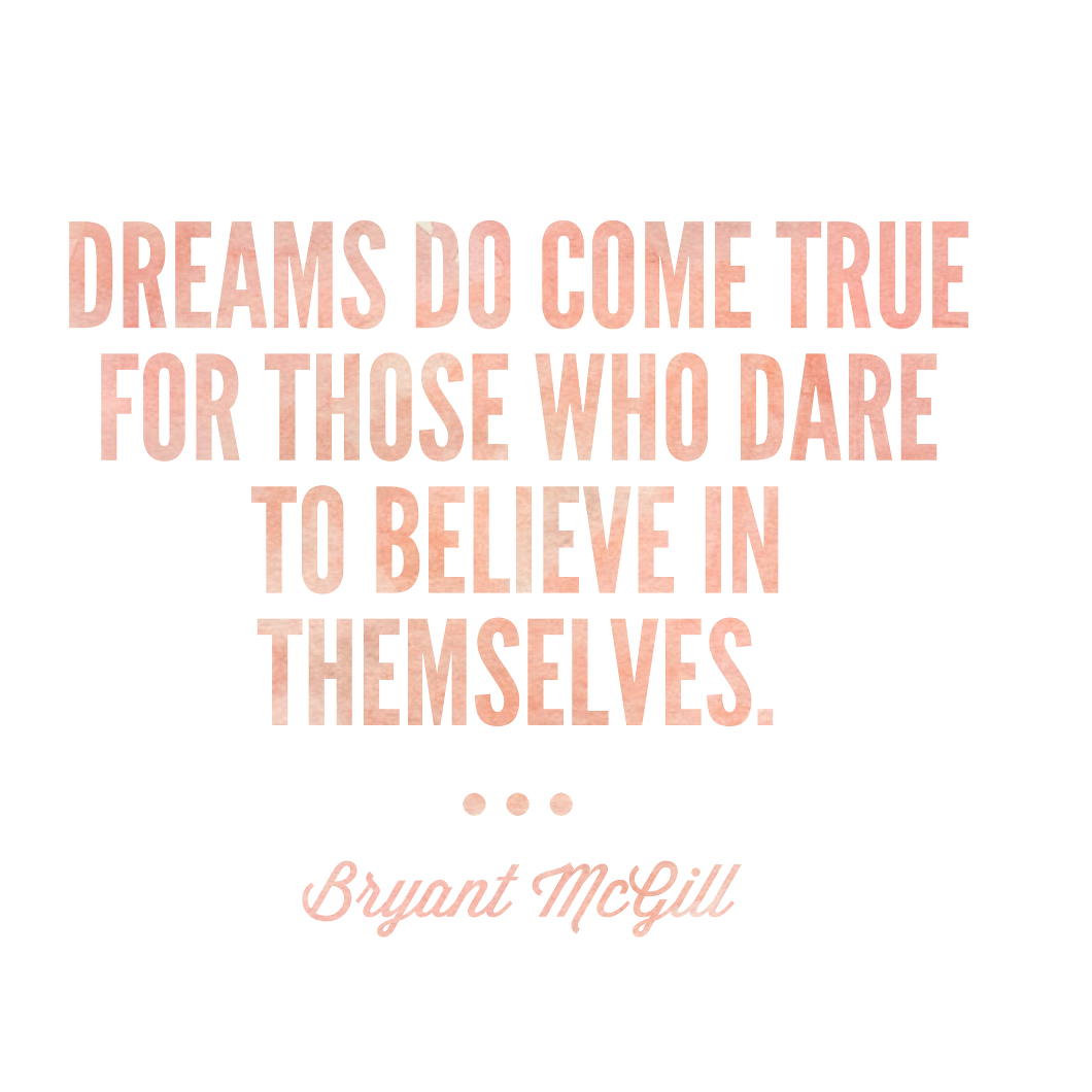 If You Don't Believe in Yourself – Who Will?