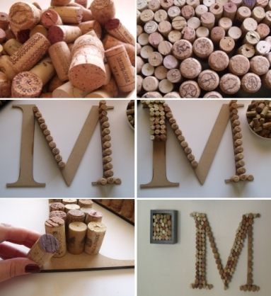Wine Cork Monogram On Pinterest