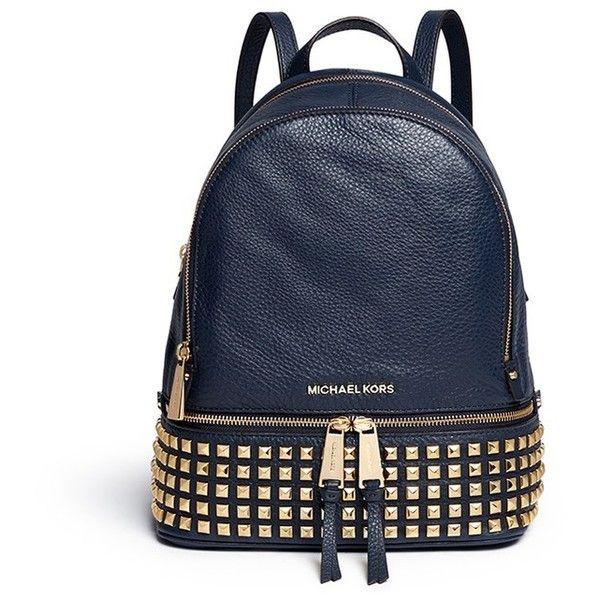 Michael Kors Rhea Small Stud Leather Backpack 540 Liked On Polyvore