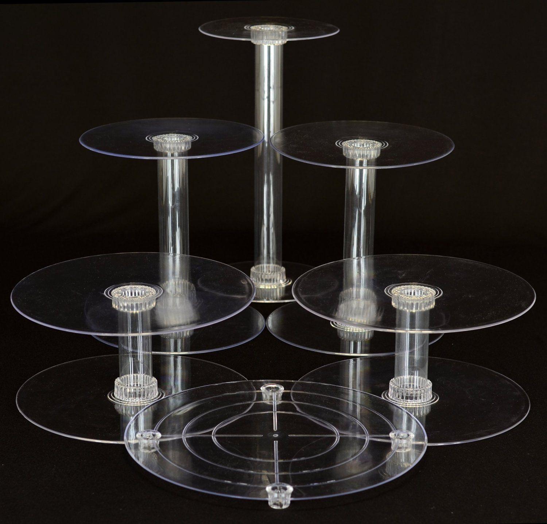 Amazon.com | 6 Tier Clear Wedding Cascade Cupcake Cake Stand: Clear Acrylic Cupcake Stand: Cake Stands