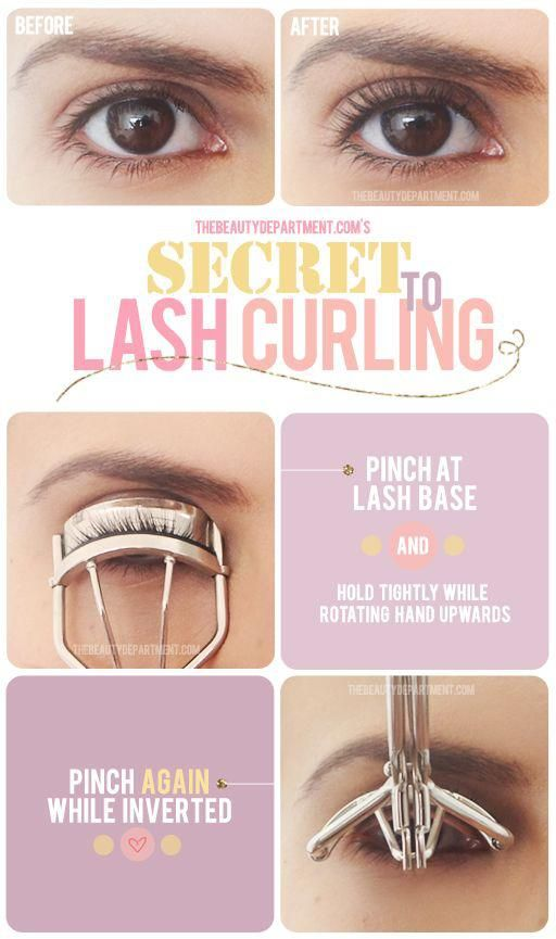 Correct eyelash curling technique! This way makes my lashes look do much better. The trick is not to just press your lashes but to also tilt the curler up!