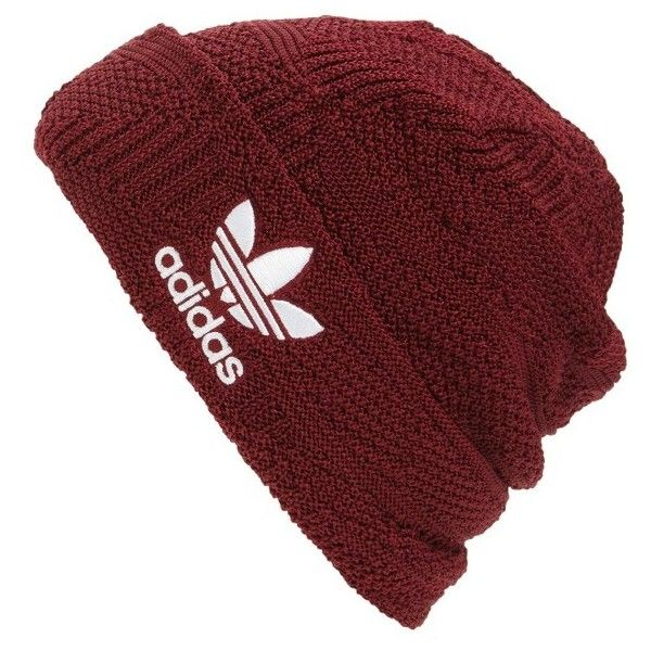 Men's Adidas Cuffed Beanie ($24) ❤ liked on Polyvore featuring men's fashion, men's accessories, men's hats, collegiate burgundy, vintage mens hats, mens beanie hats, vintage mens accessories and mens beanie caps