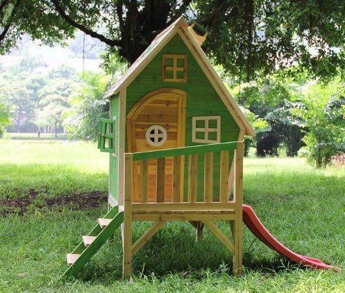 Kinderhaus Luca Holzhaus Kinderspielhaus Rutsche Podest Vormontiert Amazon De Garten Kinderhaus Kinderspielhaus Kinder Baumhaus