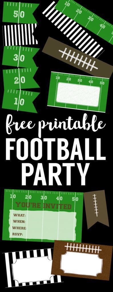 Free Printable Football Decorations {Football Party #footballpartyfood