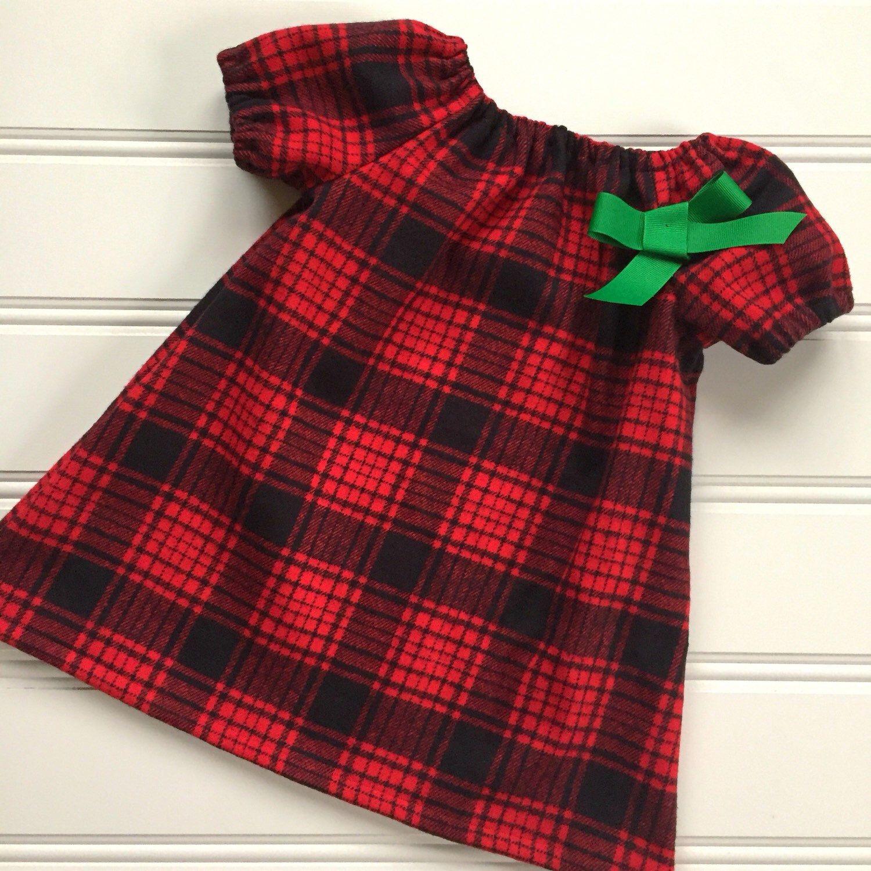plaid christmas dress for girl - Girls Plaid Christmas Dress