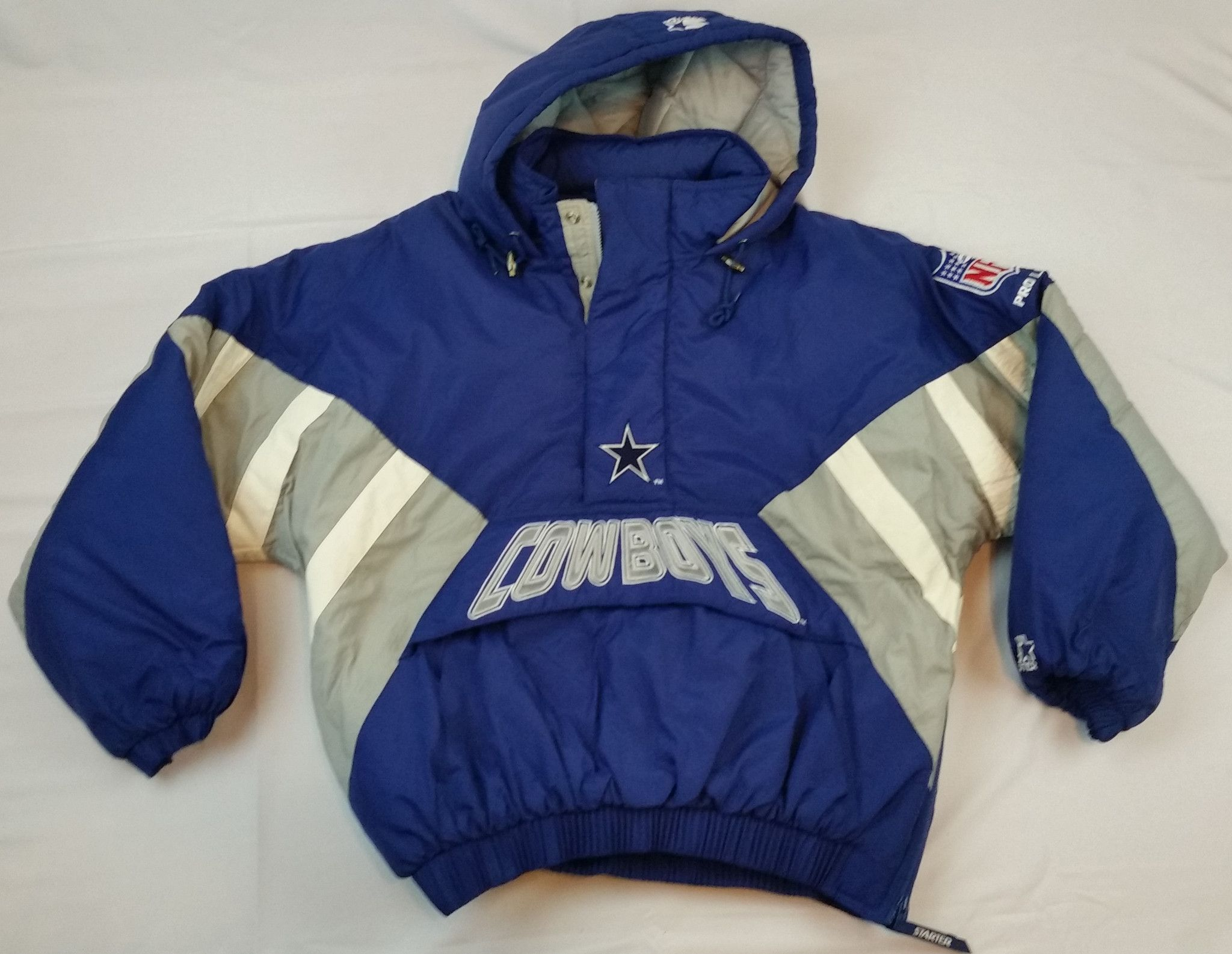 3df9ce25bb15 Dallas Cowboys Starter Jacket Vintage NFL Pro Line Coat Pullover Mens Large