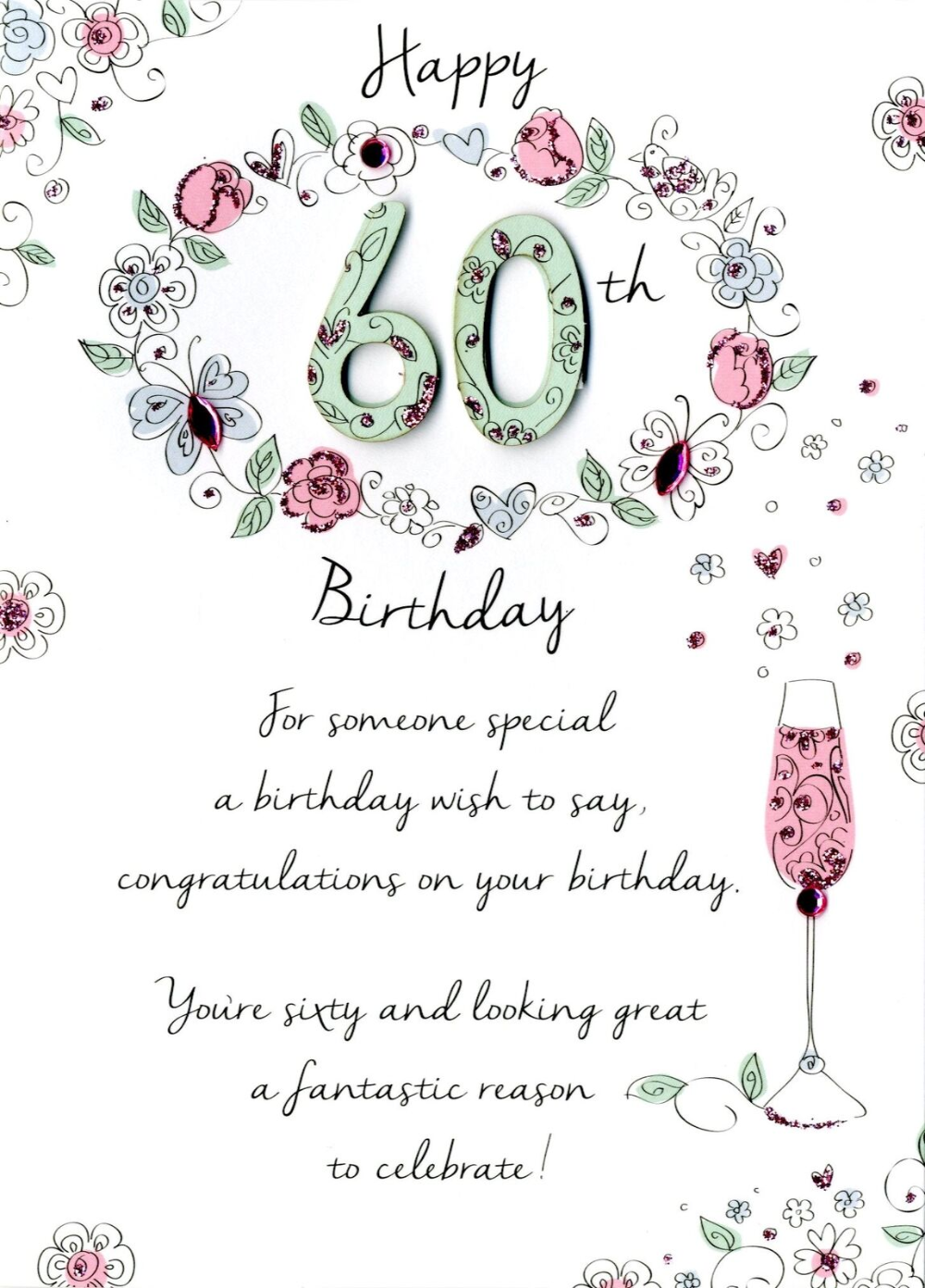Female 60th Birthday Greeting Card Second Nature Just To Say Cards 5034527262899 Ebay 60th Birthday Cards 60th Birthday Greetings Happy 60th Birthday Wishes