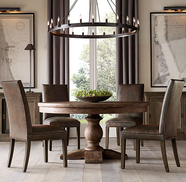 Rh S 17th C Priory Round Dining Table Porized During The Middle Ages Trestle Is One Of Oldest Known Designs