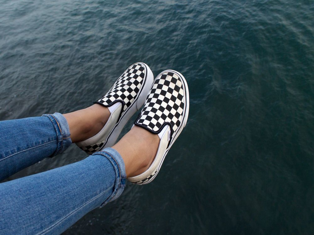 Vans Classic Checkerboard Slip On Black