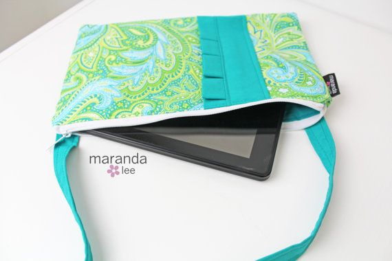 Christmas Gift giving made easy! Zippered Cross Body Messenger  iPad Kindle Tablet by marandalee, $24.00