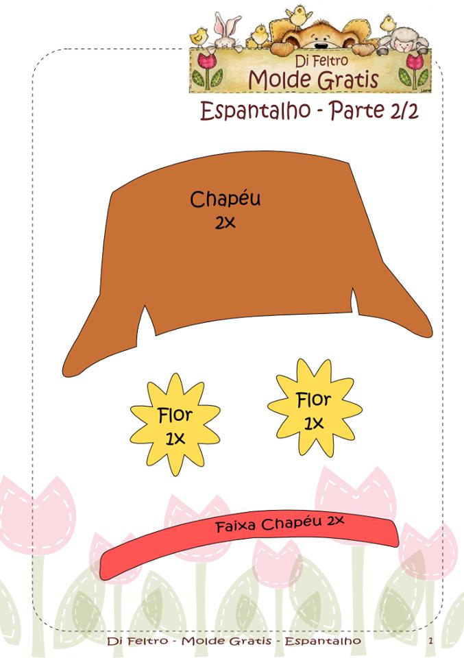 Espantalho Molde 2 2 Espantalho Chapeu De Espantalho Feltro