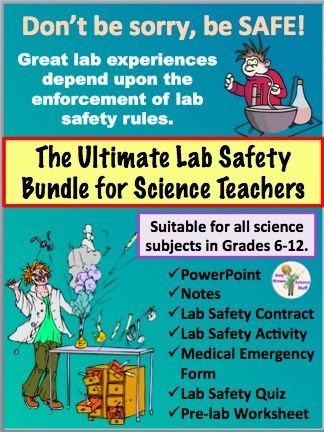 Lab Safety Bundle for Science Teachers PowerPoint, notes, lab - medical form