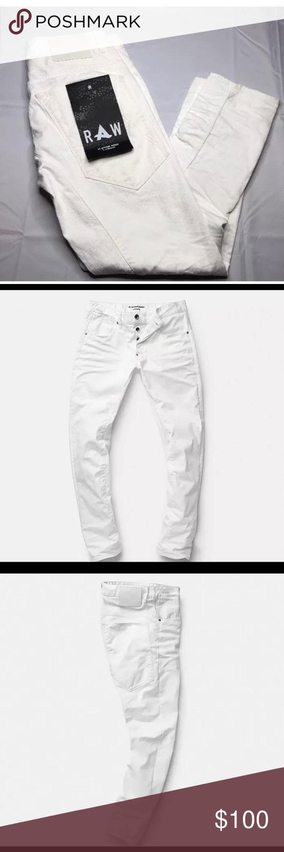 Men G Star raw Afro jack Sz 30x32 White NWT G Star Jeans